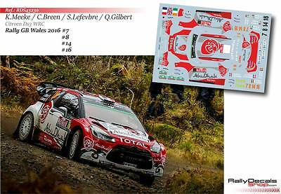 Decal 1/43 RDS43230 - Citroen DS3 WRC - Rally GB Wales 2016