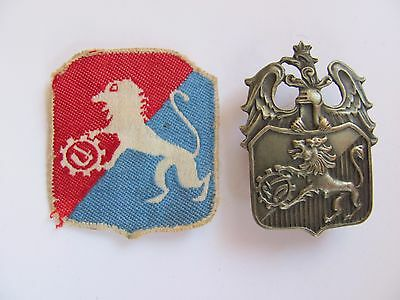 Poland polish  6th Lwow Infantry Division badge with patch