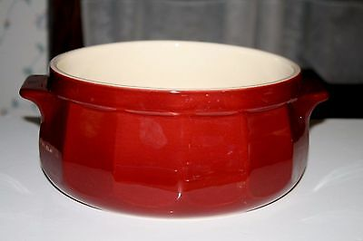 EMILE HENRY  Round MAROON STEW POT DUTCH OVEN FRANCE ~ WILLIAMS SONOMA ~ No LId