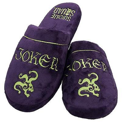 Suicide Squad - Joker Adult Lined Mule Slippers - New & Official DC Comics