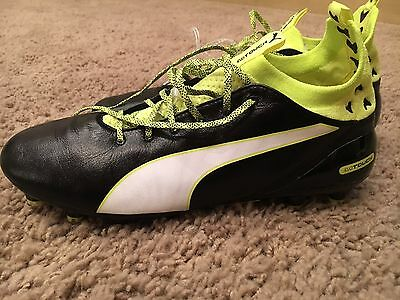 Puma Evotouch Soccer Cleats Mens Size 9.5 Black/Yellow