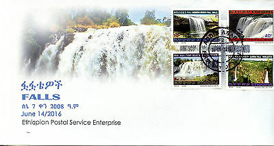 Ethiopia 2016 FDC Waterfalls Falls 4v Set Cover Tourism Landscapes Stamps