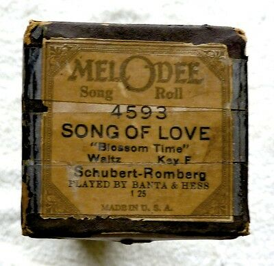Melodee 4593 Song Of Love Schubert-Romberg Played By Banta & Hess