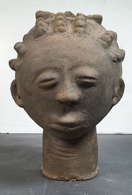 African Terra Cotta Head Ethnographic Tribal