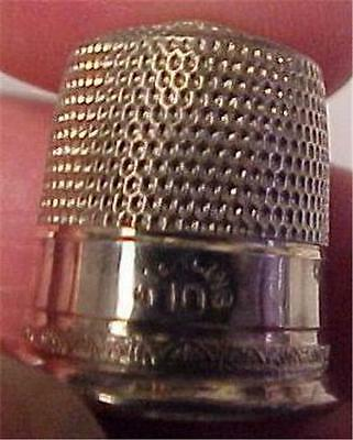 Sterling Silver Thimble-Vintage - Size 10 = 13344C