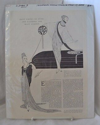 1919 Original Fashion Magazine Pages by Ertes 2 Pages
