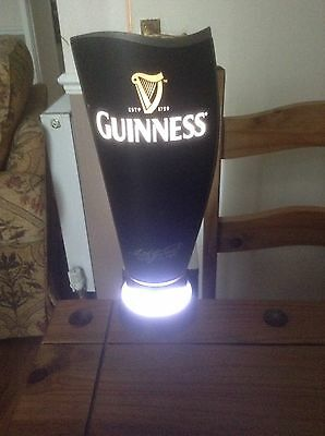 Professional Light Up Guinness Surger with bar mount.   Genuine