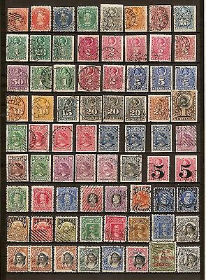 Chile. Colombus, cancels, air, overprint, classic used stamps.