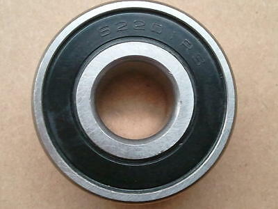 """6207-2RS BEARING 1.37"""" ID x 2.83"""" OD x .66"""" WIDE - SEAL BOTH SIDES - LOT OF 4"""