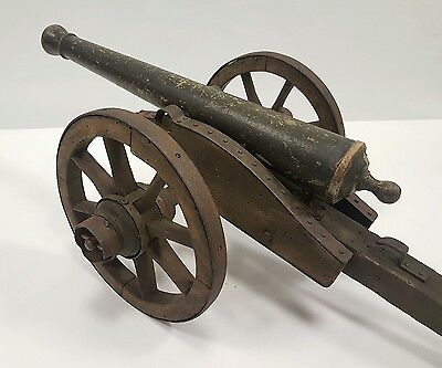 Antique Model 1857 Napoleon 12 Pound Cannon American CIvil War Wood XIX Century