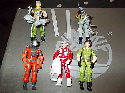 action force gi joe vintage figures bundle with weapons accessories