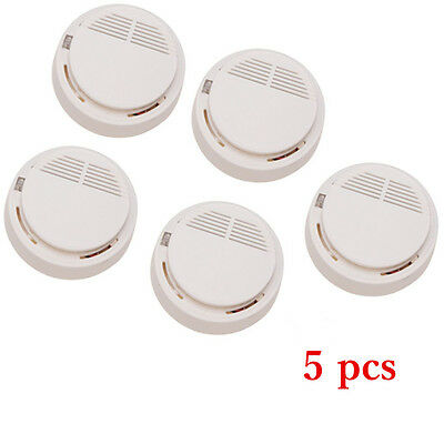 Fire Smoke Alarm Smoke Sensor White Home Security System Smoke Detector