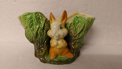 No. 27 Small wide posie vase with Rabbit. Eastgate Fauna