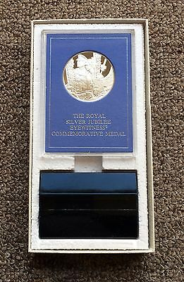 Royal Silver Jubilee 1977 Silver Proof Eyewitness Medal By The Franklin Mint