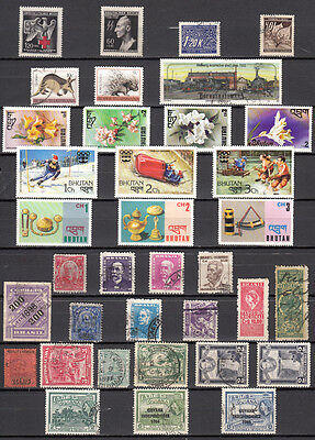 LOT 117. BUTAN plus other COUNTRIES X35 Different stamps