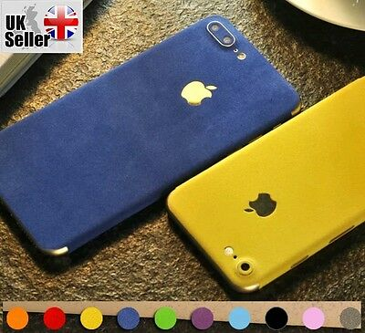 Luxury Soft Suede Velvet Skin Wrap Sticker Vinyl Decal Case Cover For All iPhone