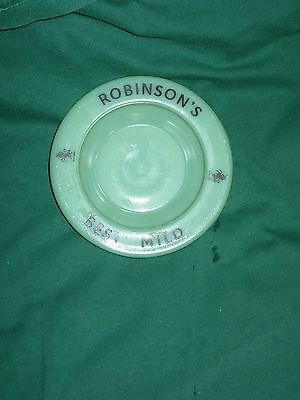 Vintage ROBINSON'S Brewery Ashtray, opaque glass (1970's Breweriana)