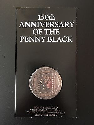 One Crown 150th Anniversary of the Penny Black unc. Isle of Man 1990