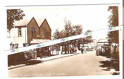 Leysdown Station Road nr Sheerness - Sheppey  Kent - Early R/P Postcard - c1950s