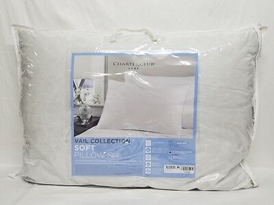 CHARTER CLUB - Vail Collection Soft Support Standard/Queen Down Pillow NC