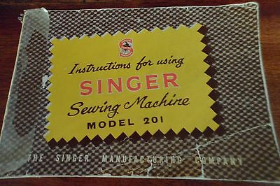 singer 201 sewing machine instruction book collection only