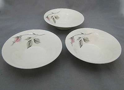 Knowles China DAWN ROSE by Kalla 3 Berry Bowls