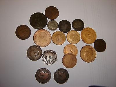 18 K G V GB Coins  ~ 11  1/2  Penny's ~ 4  Penny's  ~1  6p ~ 2 1/-