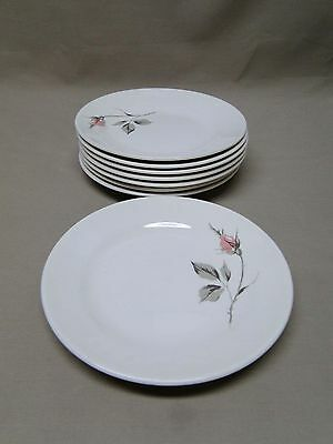 Knowles China DAWN ROSE by Kalla 8 Bread and Butter Plates