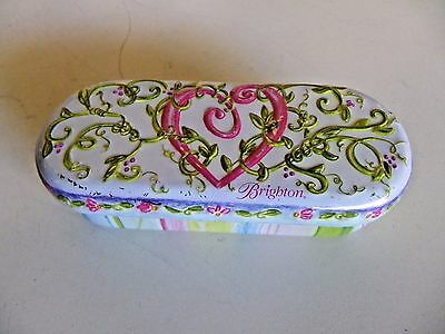 Brighton Eye Glass Sunglasses Case Lined Metal Tin