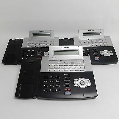 LOT OF 3 -  Samsung OfficeServ DS-5021D Digital Telephone w/ Handset and Stand