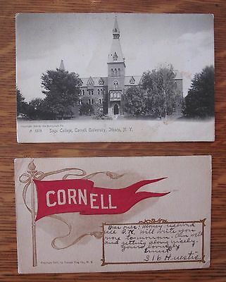 Two Early Vintage Cornell University Postcards