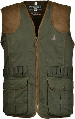"""Percussion Shooting Hunting """"TRADITION"""" Waistcoat Vest Green"""