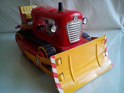 VERY RARE Old German toy bulldozer battery operated