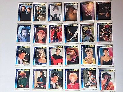 Lot of 24 Country Gold Trading Cards Collection CMA Country Music Association 92