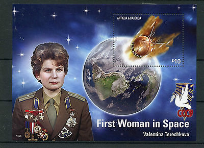 Antigua & Barbuda 2015 MNH First Woman Space 1v S/S Valentina Tereshkova Stamps