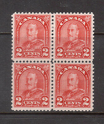 Canada #165ai VF Mint Block With Lower Left Extended Mustache Variety