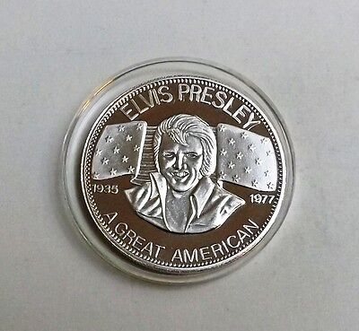 1977 Elvis Presley One Ounce Fine Silver Proof Supplied In Capsule