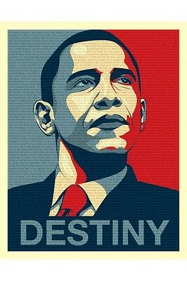 OBAMA - Destiny Discour Affiche 40x50cm  -  ENVOI en tube