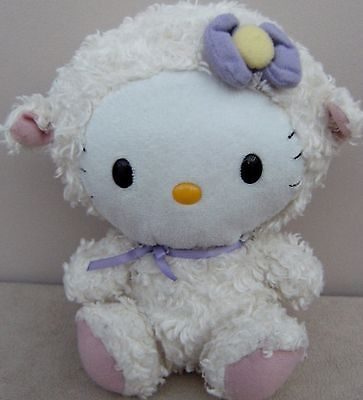 Hello Kitty Dressed In Lamb Outfit Soft Plush Toy
