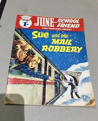 June and School Friend  no 483 Sue And The Mail Robbery 1963