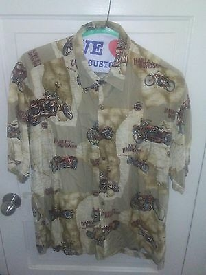 Harley Davidson Vintage Motorcycle Button Down XL Shirt