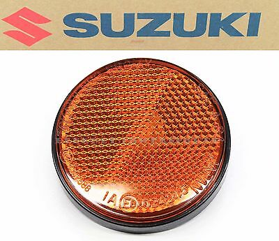 Suzuki Amber Front Reflector Black Base Safety AN650 Burgman UH200 #K174 B