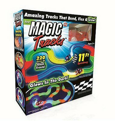 Brand New In Box Magic Tracks Glow In The Dark Car Racing Set Toy As Seen On TV