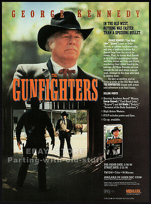 THE GUNFIGHTERS__Original 1990 Trade AD promo__GEORGE KENNEDY__ART HINDLE - 1987