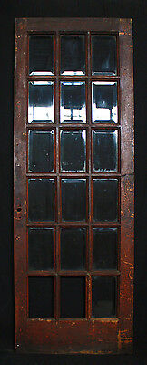 "30""x 84"" Antique Interior Exterior Entry French Oak Door Beveled Glass Lites"