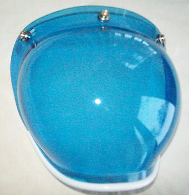 Paulson Snap On Bubble Shield For Helmet Model 158--Blue Tint