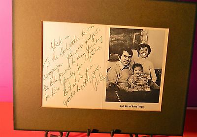 """Paul Tsongas Sgned Christmas Card  1975 9""""x 6"""" with family picture"""