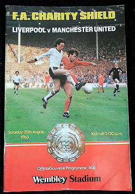 Liverpool  v Manchester United    Charity Shield    20-8-1983