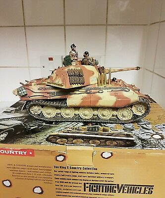 King and country,King Tiger,,WS71 ,3 Crew,(extra's,, see description