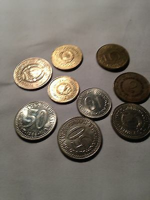 Small Joblot of 9 Jugoslavian Dinar coins - see all pictures!